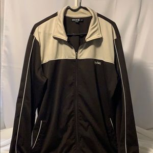 HURLEY Brown & Tan Full ZIP Jacket Sz. XXL